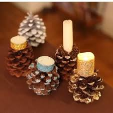 pine cone tea light holder set 3 ceramic pine cone tealight candle holders 3 5 5 5 7 5 real