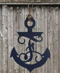 wood monogram letter anchor signs southern candle studio