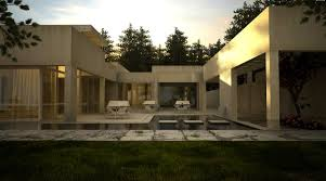 white stone house with pool interior design ideas