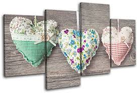 buy bold bloc design hearts shabby chic love 60x60cm canvas
