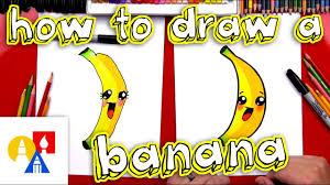 how to draw cartoon banana youtube