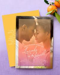 wedding invitations with photos 30 modern wedding invitations we martha stewart weddings