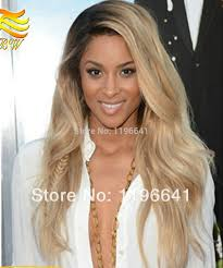 ciara strawberry blonde long side part wet and wavy virgin