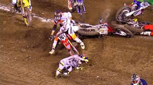 fox sports motocross ken roczen and ryan dungey crash in heat 2 anaheim 2016