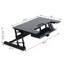Adjustable Height Computer Desk Workstation by Homcom Height Adjustable Sit U0026stand Office Desk Workstation
