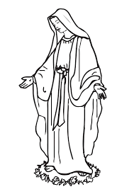 saint mary coloring pages virtren com