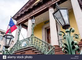 Flag Sc Charleston Market Street Flag South Carolina Lamp Post Wrought