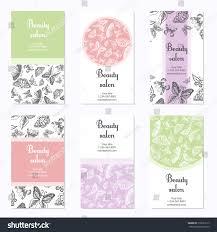 Salon Invitation Card Set Beauty Salon Business Cards Butterfly Stock Vector 316621517