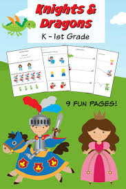 dragons for children knights and dragons k 1st grade worksheets frugal eh