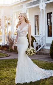 martini mermaid wedding dresses mermaid wedding gown with plunging neckline