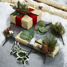 botanical gift toppers set of 8 crate and barrel