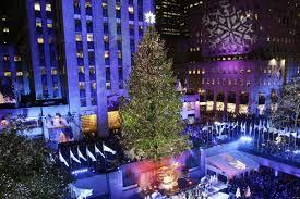 big christmas tree in new york home decorating interior design