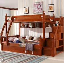 Wood Bunk Bed With Futon Bedroom Oak Bunk Beds With Desk Awesome For Pics Solid Stairs Uk