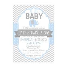 boy elephant baby shower invitations baby shower mania