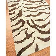 Zebra Print Throw Rug Brown Zebra Area Rug Rug Designs
