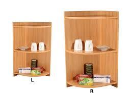 eckregal küche küchen eckregal abschlussregal mit 3 ablageflächen erle apfel