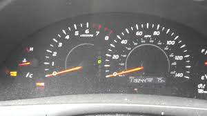 2007 toyota camry brake light and abs gauges
