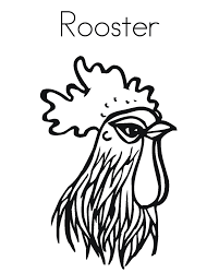 rooster head farm animal coloring pages animal coloring pages of