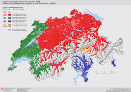 Swiss Map Language Map Of Switzerland 1049 X 703 Mapporn