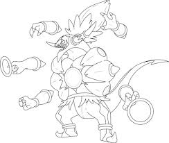 hoopa unbound coloring lineart pokemon detailed