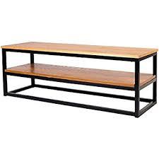 placage meuble cuisine meuble tv industriel en métal époxy noir plateau placage bois