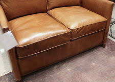 Distressed Leather Loveseat Distressed Leather Sofa Ebay