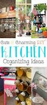 Diy Kitchen Organization Ideas Cute And Charming Diy Kitchen Organizing Ideas The Cottage Market