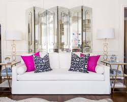Olivia Palermo Home Decor by Family Room Reveal Blue And White With Pops Of Pink