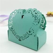 50pc lot nice love heart gift cardboard box laser cut hollow gifts