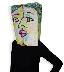 cubist paper bag costume art projects for kids