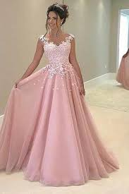 pink dresses princes pink tulle lace applique evening dress gown