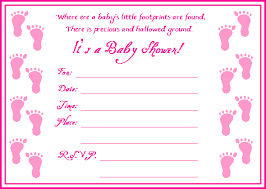 free adorable baby footprint shower invitations