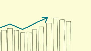 growing chart growing chart arrow hand drawn animation stock video footage