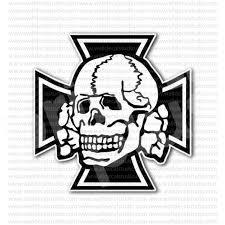 from 4 00 buy german iron cross skull crossbones sticker at