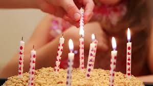 a beautiful cake with light candles to blow out wishing you a