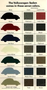 thesamba com vw archives 1967 vw beetle colors brochure