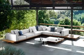 Outdoor Furniture Ideas Tribù Vis à Vis Sofa Coffee Table In Teak Wood