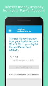prepaid account paypal prepaid android apps on play