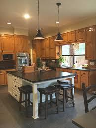 blue kitchen island with oak cabinets blue grey kitchens with oak cabinets page 1 line 17qq