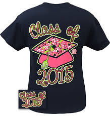 2015 graduation shirts girlie girl originals preppy class of 2015 senior graduation