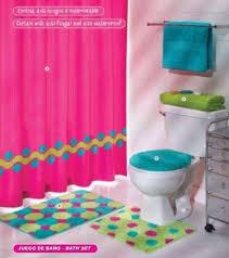 bathroom sets ideas beautiful bathroom decor set the pink green aqua blue circles