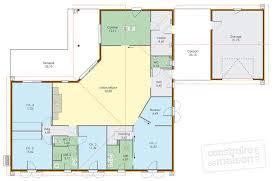 plan maison plain pied en l 4 chambres grande maison de plain pied dé du plan de grande maison de