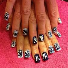 new york yankees nail art gallery