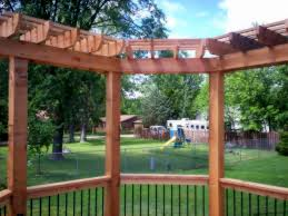 Pergola Corner Designs by Pergola Design Ideas Material Color Shape Size St Louis