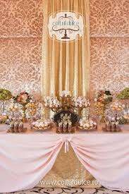 Pink And Gold Dessert Table by Pink And Gold Baby Shower Dessert Table Candy Buffet