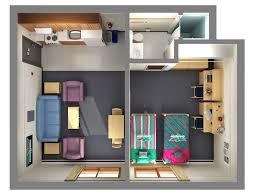 2 Room Flat Floor Plan Floor Plans Office Of Residence Life University Of Wisconsin