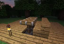 How To Make A Bedside Table Out Of Wood by How To Make Furniture In Minecraft Minecraft Wonderhowto