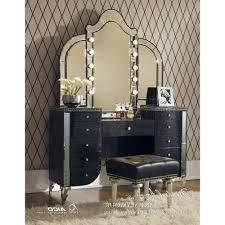 Vanity Chair Ikea by Makeup Vanity Table With Lighted Mirror Black Bedroom Set Sets