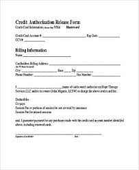 Credit Release Form Sle Credit Authorization Forms 9 Free Documents In Word Pdf
