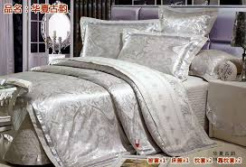 thin layer quilted luxury silk bedding set satin silk tribute silk